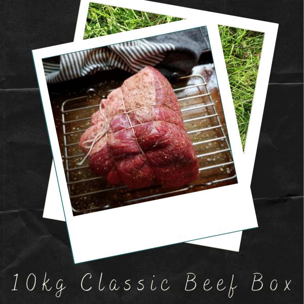 Beef roast tied and seasoned ready for roasting