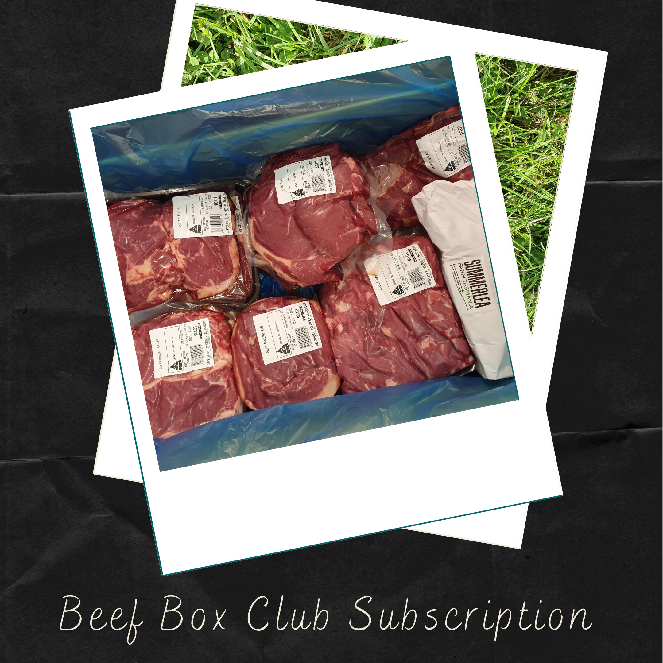 Grass fed Angus beef packaged and boxed ready for distribution